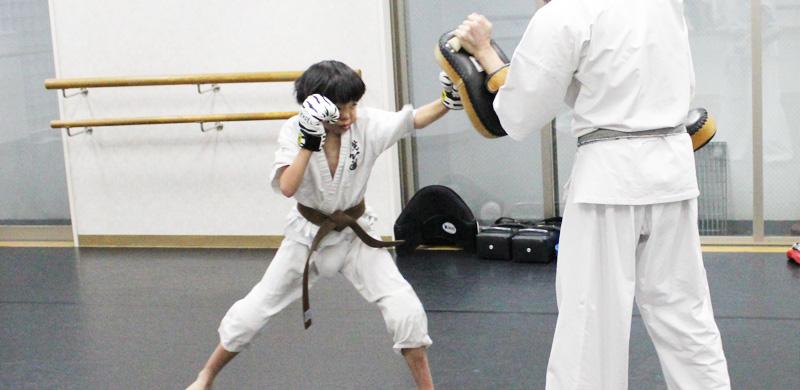 渋谷空手スクール小学生練習